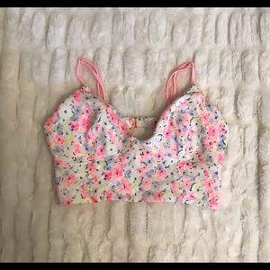 Victoria's Secret floral swimsuit top. L